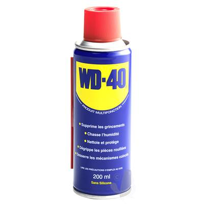 Spray multi fonction WD-40 en 200 ml.